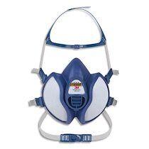 Masque coque 4251+ gaz et vapeurs FFA1P2RD jeu de brides et harnais, soupape parabolique K4251+