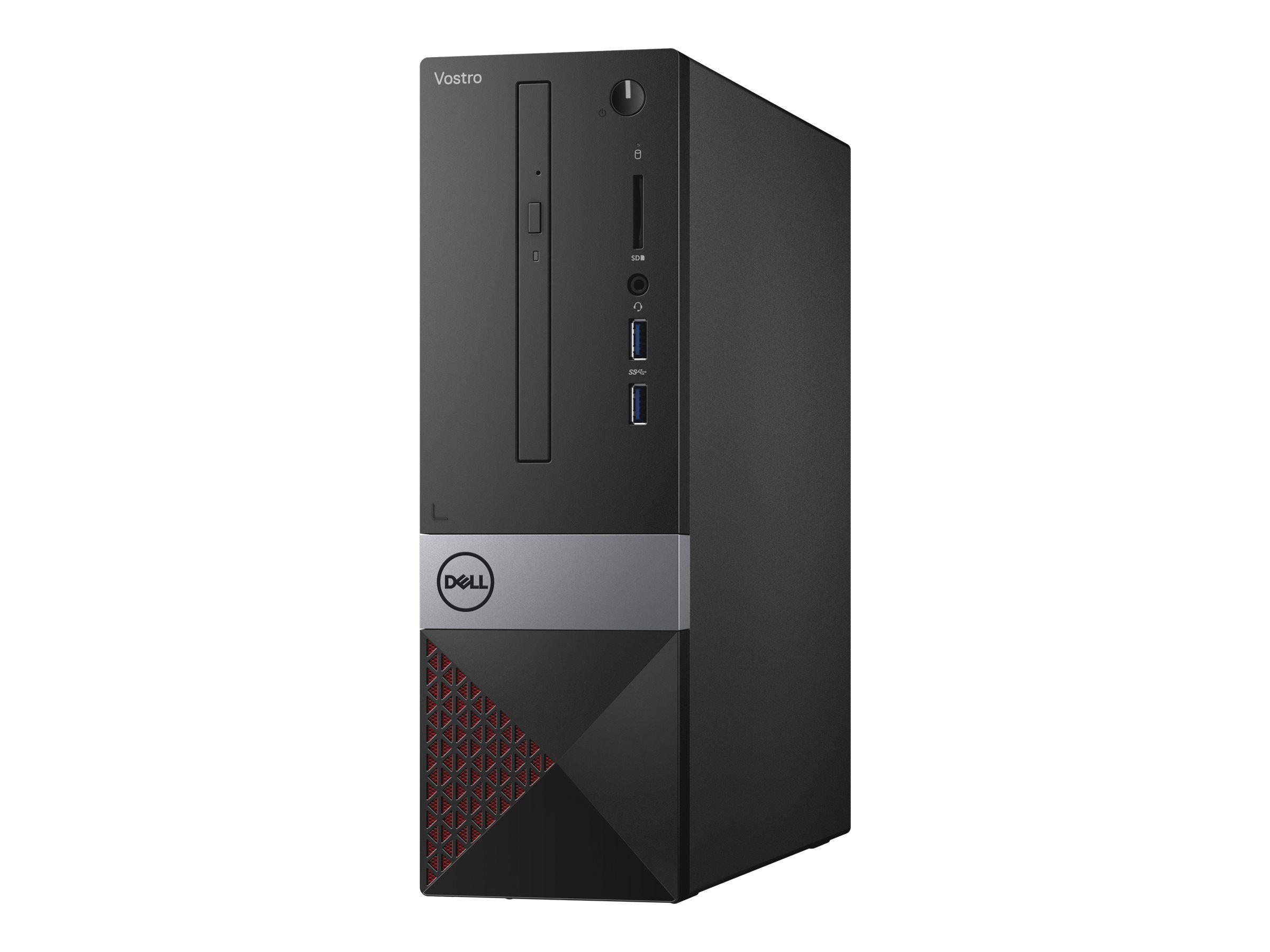 Dell Vostro 3471 - SFF - Core i3 9100 / 3.6 GHz - RAM 4 Go - SSD 128 Go - graveur de DVD - UHD Graphics 630 - GigE - LAN sans fil: 802.11b/g/n, Bluetooth 4.0 - Win 10 Pro 64 bits - moniteur : aucun - BTS - avec 1 Year Dell Collect and Return Service