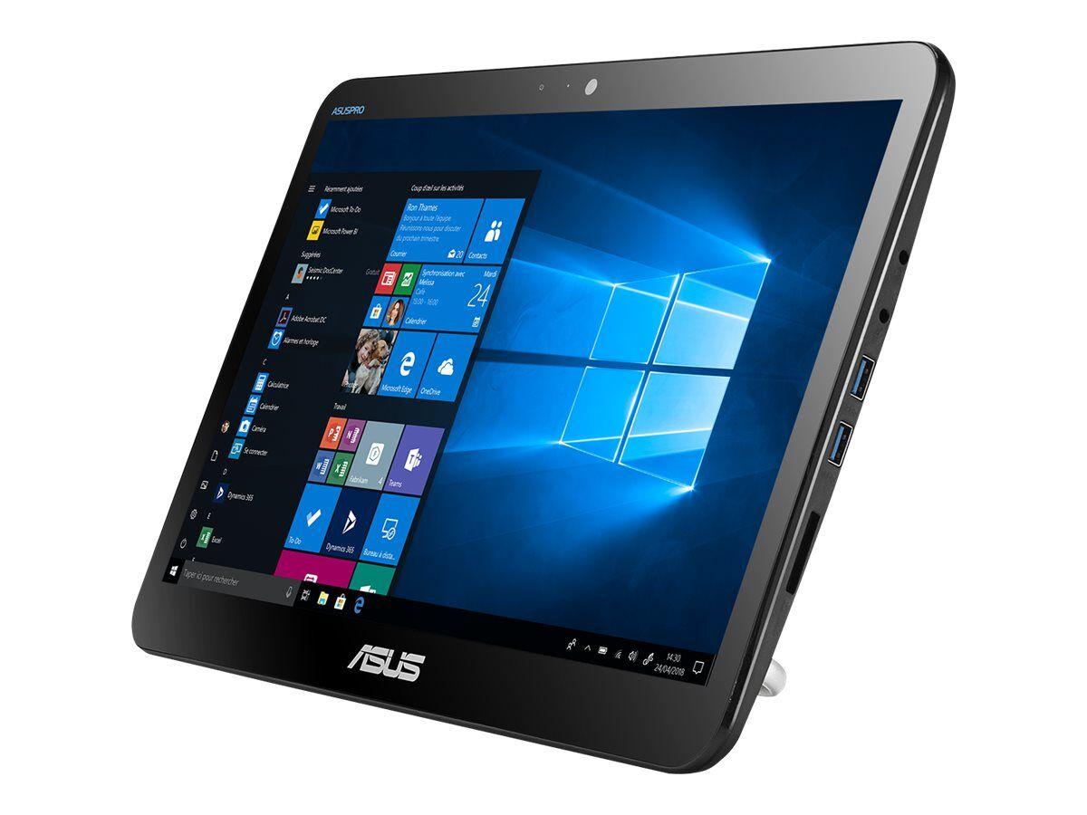 """Asus All-in-One PC A41GAT - Tout-en-un - Celeron N4100 / 1.1 GHz - RAM 4 Go - SSD 256 Go - UHD Graphics 600 - GigE - LAN sans fil: Bluetooth 4.0, 802.11ac - Win 10 Pro 64 bits - moniteur : LED 15.6"""" 1366 x 768 (HD) écran tactile"""
