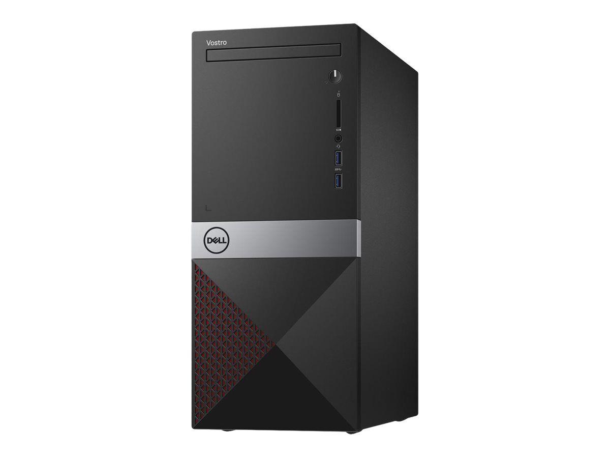 Dell Vostro 3671 - MT - Core i3 9100 / 3.6 GHz - RAM 4 Go - HDD 1 To - graveur de DVD - UHD Graphics 630 - GigE - LAN sans fil: 802.11b/g/n, Bluetooth 4.0 - Win 10 Pro 64 bits - moniteur : aucun - BTS - avec 1 Year Dell Collect and Return Service