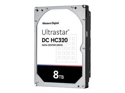 "Western Digital WD Ultrastar DC HC320 HUS728T8TALE6L1 - Disque dur - chiffré - 8 To - interne - 3.5"" - SATA 6Gb/s - 7200 tours/min - mémoire tampon : 256 Mo - Self-Encrypting Drive (SED), TCG Enterprise SSC"