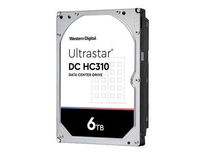 "Western Digital WD Ultrastar DC HC310 HUS726T6TALN6L4 - Disque dur - 6 To - interne - 3.5"" - SATA 6Gb/s - 7200 tours/min - mémoire tampon : 256 Mo"