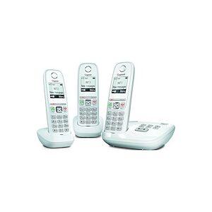 Siemens Pack trio téléphone répondeur sans fil Gigaset AS470A blanc - Publicité