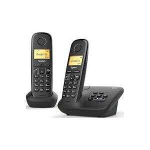 Siemens Pack duo téléphone répondeur sans fil Gigaset AL170A Noir - Publicité
