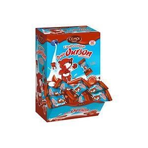 Cemoi Oursons guimauve et chocolat au lait CEMOI - Boîte de 80 sachets individuels - Publicité