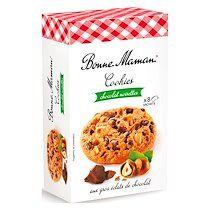 Bonne maman Cookies chocolat noisettes Bonne Maman - Boite de 225 g