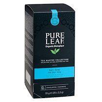 Pure Thé noir Pure Leaf Earl Grey - Boîte de 25 sachets pyramides