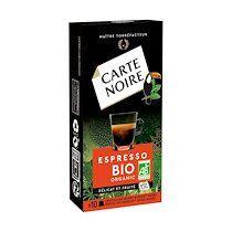 Carte noire Capsules de café Carte Noire Espresso Bio - boîte de 10