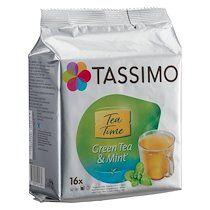 Tassimo Capsules de thé vert menthe Tassimo Twinings - Paquet de 16