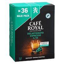 Café royal Capsules de café Café Royal Espresso Decaffeinato - Boîte de 36