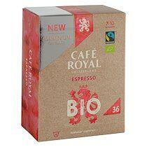 Café royal Capsules de café Café Royal Bio Espresso - Boîte de 36