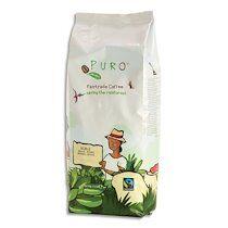 Puro Paquet de 1kg de café en grains 80 % Arabica et 20 % Robusta