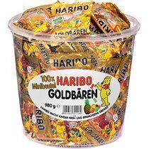 Haribo Bonbons gélifiés aux fruits Ours d'or mini, boîte - Lot de 2