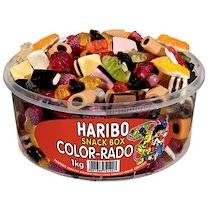 Haribo Bonbons gélifiés aux fruits COLOR-RADO, boîte de 1 kg - Lot de 2