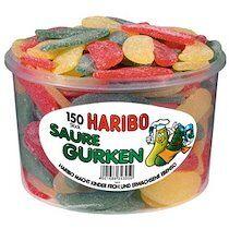 Haribo Bonbons gélifiés aux fruits SAURE GURKEN, 150 pièces - Lot de 2