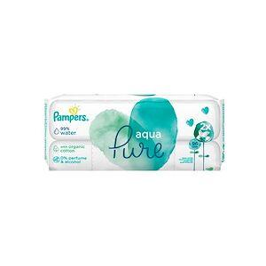 Pampers Lingettes humides Aqua Pure paquet de recharge - Lot de 3 - Publicité
