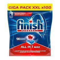 Finish Tablettes Finish Powerball tout en 1 lave-vaisselle - Pack de 100 tablettes