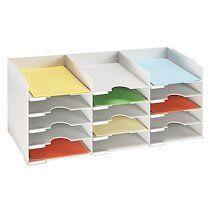 Paperflow Bloc classeur gris 15 séparateurs pour armoire - L 83 cm