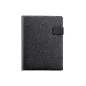 Alba Conférencier Gris tissu. 28x36x3cm. Livré avec bloc-notes, rangements multiples. Fermeture aimantée - Publicité