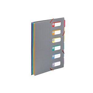 Viquel Trieur extensible à soufflet 6 compartiments – A4 – avec bloc papier – Viquel Rainbow Touch - Lot de 6 - Publicité