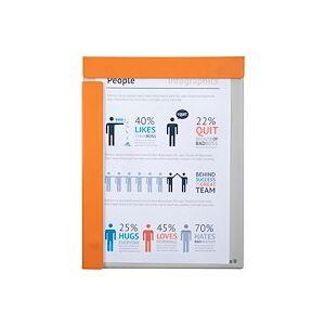 Exacompta Porte-bloc aimanté rembordé plastique pour A4 - Orange - Publicité