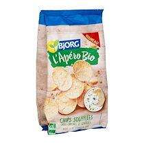 Bjorg Chips Soufflées Pois chiches et Lentilles bio - paquet de 80 g