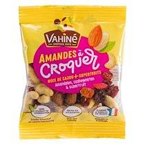 Vahiné Fruits secs Amandes à croquer Noix de cajou et Superfruits Vahiné - Sachet de 35 gr - Lot de 48
