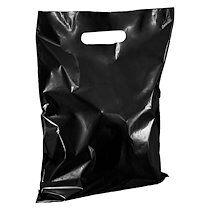 Sacs boutique coloris noir poignées plates H 32 x L 25 cm - Colis de 100