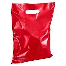 Sacs boutique coloris rouge poignées plates H 32 x L 25 cm - Colis de 100