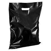 Sacs boutique coloris noir poignées plates H 45 x L 37 cm - Colis de 100