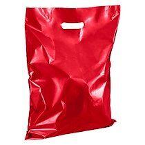 Sacs boutique coloris rouge poignées plates H 45 x L 37 cm - Colis de 100