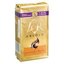 """L'or Café moulu """"L'or Absolu"""" Maison du café - Paquets de 250 g - Lot de 2"""