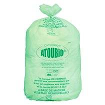 Atoubio Sac poubelle vert 130 litres biodégradable ATOUBIO - Carton de 100