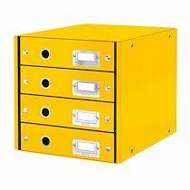 Leitz Module de classement Leitz Click&Store Wow 4 tiroirs jaune