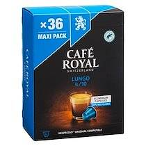 Café royal Pack 2 boîtes de 36 capsules Café Royal Lungo + 1 offerte