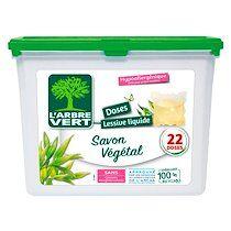 Arbre vert Pack 2 + 1 Lessive pods Arbre Vert – 22 doses