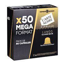 Carte noire Capsules de café Carte Noire Lungo Classique n°6 - Boîte de 50