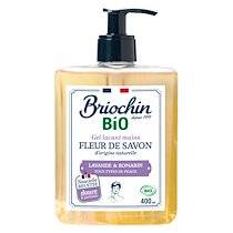 Briochin Savon gel lavant mains Briochin Bio - Lavande et romarin - Flacon à pompe de 400 ml