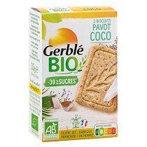 Gerblé Coco Pavot Bio  - Paquet de 33 gr - Lot de 18