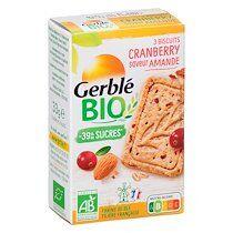 Gerblé Cranberry saveur Amande Bio - Paquet de 33 gr - Lot de 18