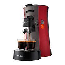 Philips Machine à café à dosette Senseo Viva Intensity plus, rouge 0,9 L