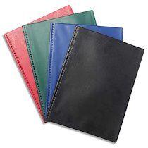 Exacompta Protège document 60 vues soudé VEGA, couverture PVC 3/10, coloris assortis opaque - Lot de 5
