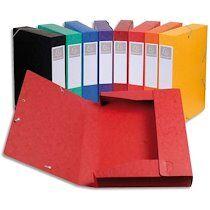 Exacompta Boîte de classement Cartobox, A4, 40 mm, assorti - Lot de 10