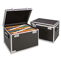 Leitz Boîte pour dossiers suspendus, noir/chrome