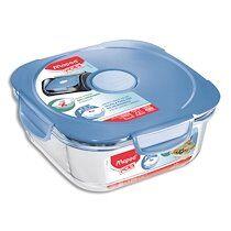 Maped Boîte à déjeuner Picnik Concept Adulte base en verre borosilicate, couvercle à valve Bleu orage - Lot de 2