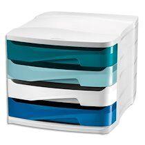 Cep Module de classement Riviera, 4 tiroirs, blanc / bleu