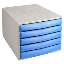 Exacompta THE BOX fermé - Gris lumière/bleu glacé