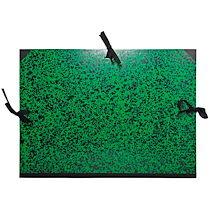 Exacompta Carton à dessin Annonay avec rubans 37x52 cm - Pour formats B3 et 1/2 raisin - Vert - Lot de 5