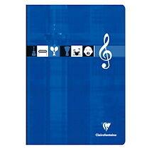 Cahier Musique & Chant piqué A4 96 pages grands carreaux Couleur aléatoire - Assortis - Lot de 10