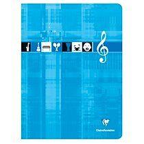 Cahier Musique & Chant piqué 24x32cm 48 pages grands carreaux Couleur aléatoire - Assortis - Lot de 10
